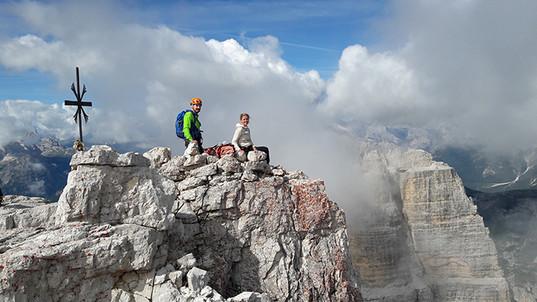 Am Gipfel der Großen Zinne