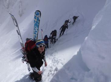 Aufstieg zur Col Fiedo Scharte