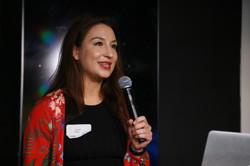 Tamar Riley speaks at Hacks Hackers