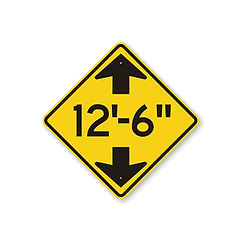 """Under 12'-6"""" sign for low profile trucks"""