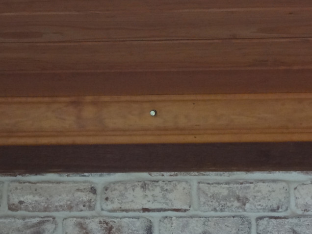 Close-up of custom installation