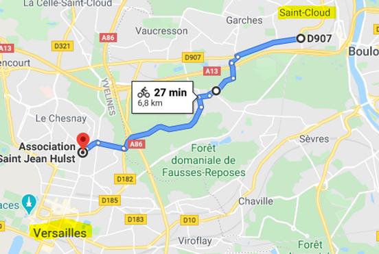 Trajet vélo - Saint-Cloud-Versailles