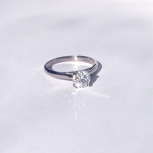 Moissanite Solitaire Ring 6.5mm (1ct)