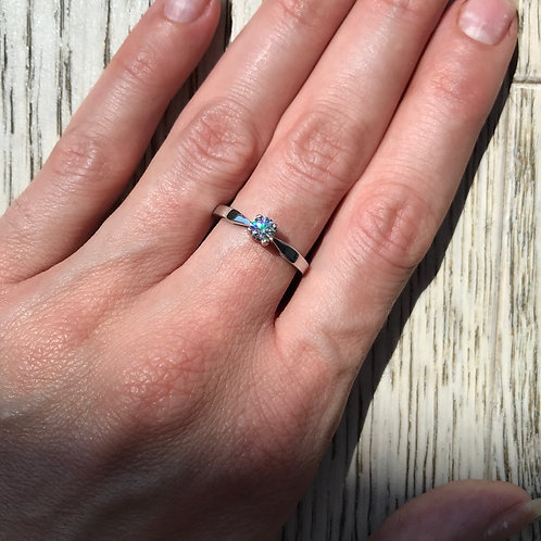 Diamond Solitaire Ring 4.3mm (0.31ct)