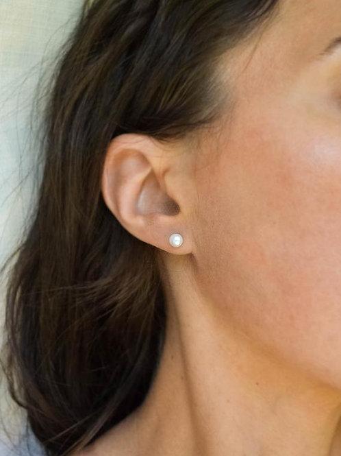 Freshwater Pearl Stud Earrings 5.5-6mm