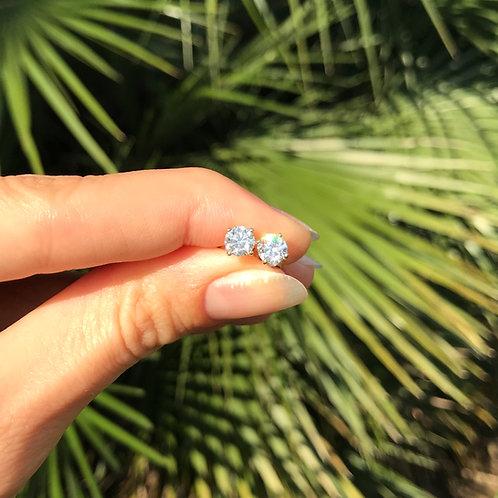 Diamond Martini Stud Earrings 5mm (1ctw)