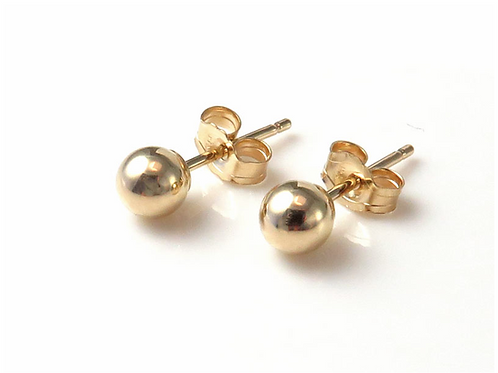 Ball Stud Earrings 3mm / 4mm / 5mm