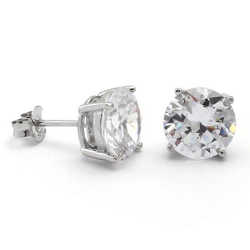 Swarovski Zirconia® Sterling Silver Stud Earrings 6mm