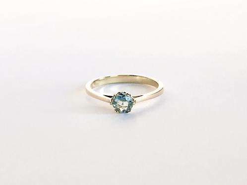 Aquamarine Solitaire Ring 5mm (0.37ct)