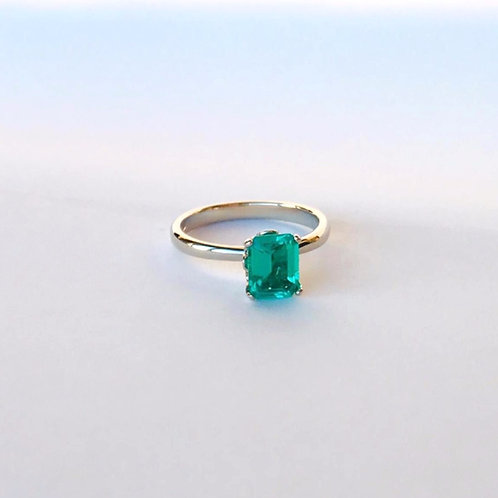 Emerald Solitaire Ring 8x6mm (1.75ct)