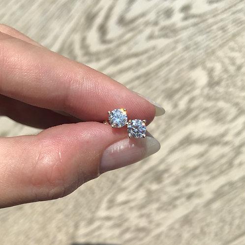 Moissanite Forever One® Martini Stud Earrings 5mm (1ctw)