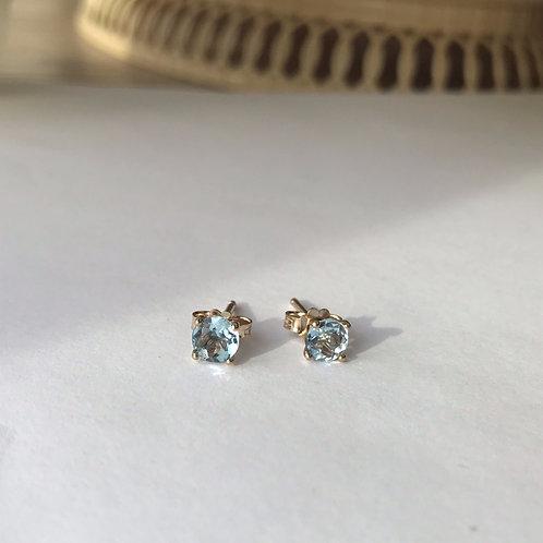 Aquamarine Stud Earrings 5mm (0.74ctw)