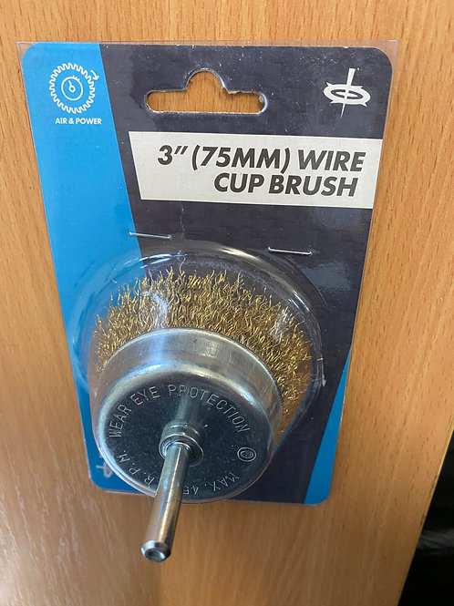 WIRE ROTARY CUP BRUSH 3INCH