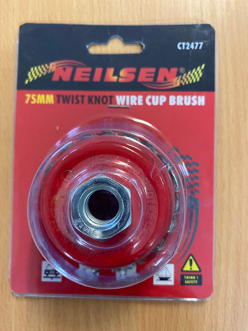 WIRE ROTARY BRUSH, TWIST KNOT CUP