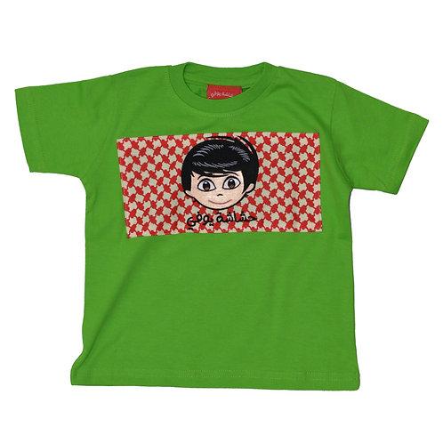 SHAMMAG T-SHIRT FOR BOYS - Green  تيشيرت شماغ ولادي - أخضر