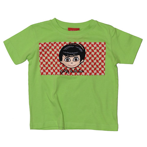 SHAMMAG T-SHIRT FOR BOYS - Light Green  تيشيرت شماغ ولادي - أخضر فاتح