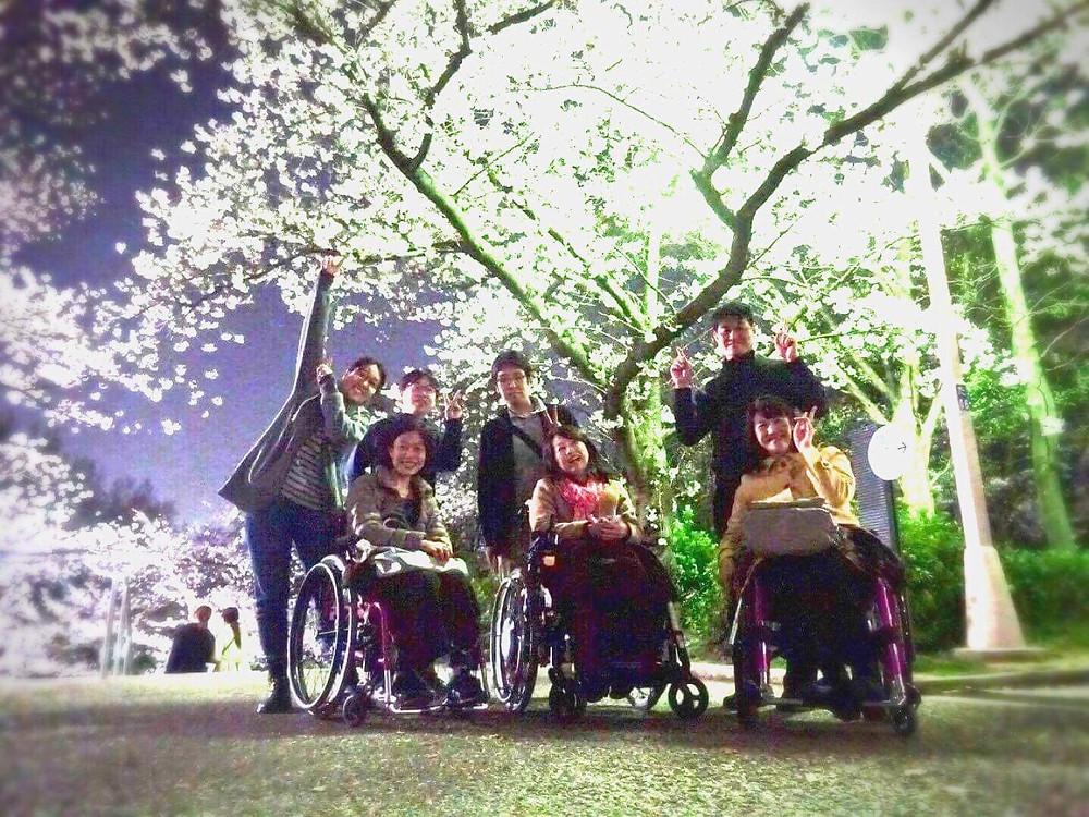 夜桜お花見会写真