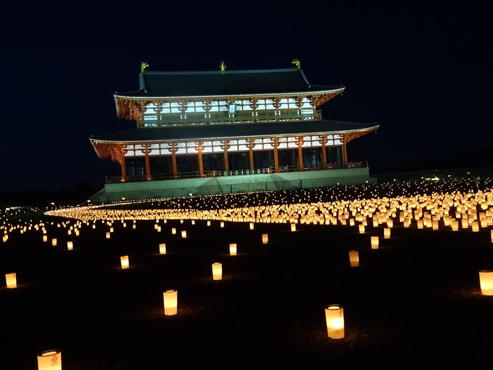 太極殿の燈花会