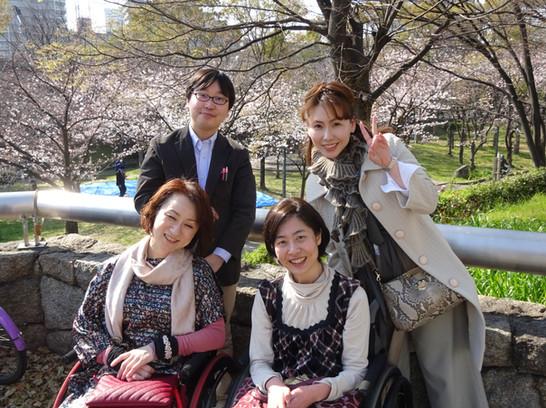 【障害のある方も高齢の方も安心!桜が見えるホテルのレストランでお花見ランチ無事終了しました】