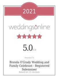 Finalist - Wedding Celebrant of the Year!