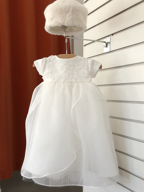 Flower lace baptism gown