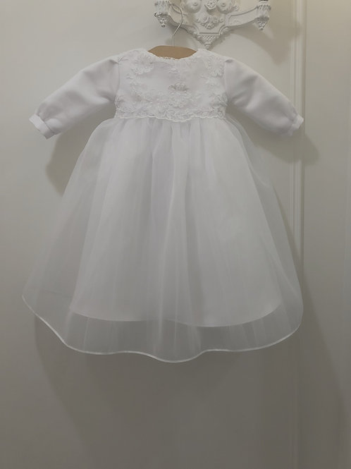 Baptism Gown with Long Sleeves