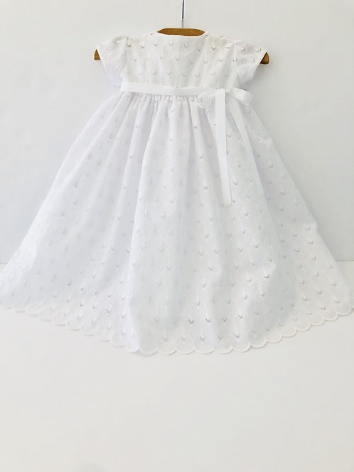 Cotton Eyelet Gown with Scalloped Edge