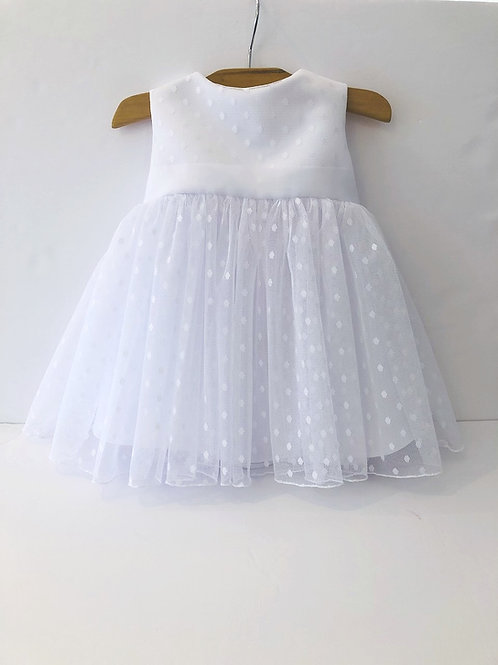 Swiss dot tulle baby dress