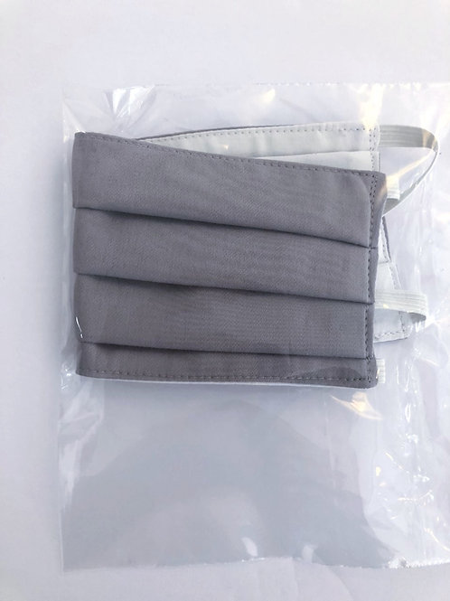 Medium grey cotton face mask