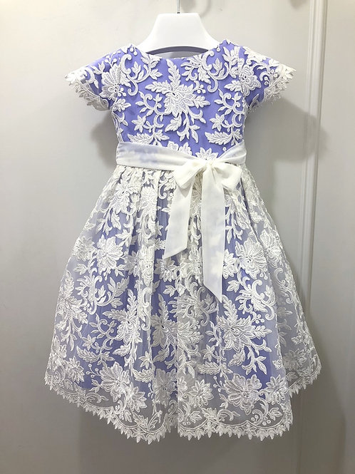Custom guipure lace dress