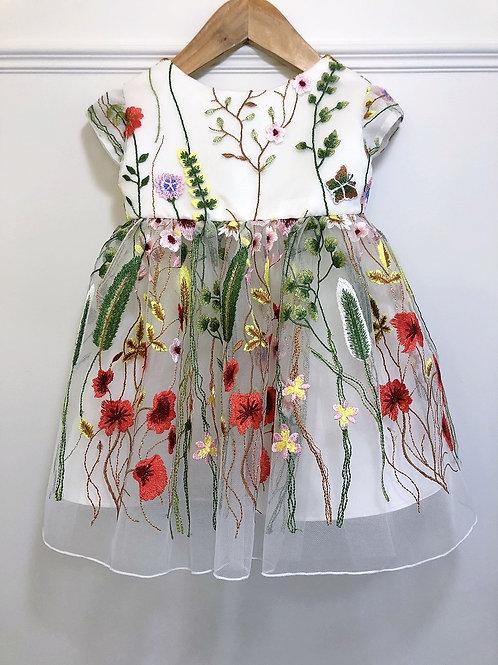Spring Flowers Baby Dress