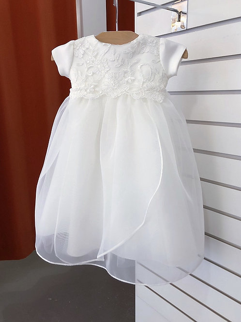 Corded Lace Bodice Scalloped at Waist