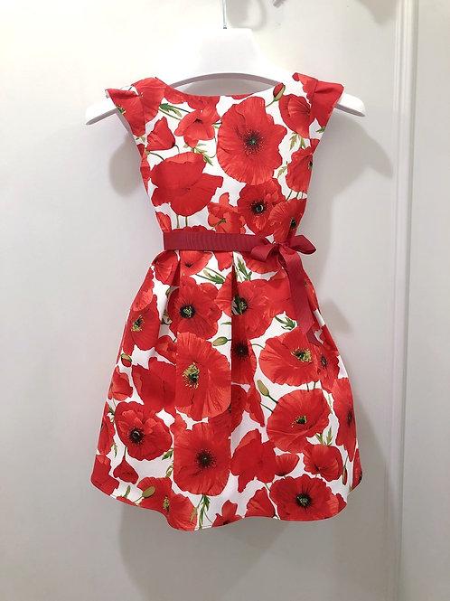 Poppy print cotton dress