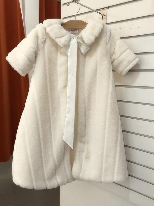 Faux Fur Baptism Coat