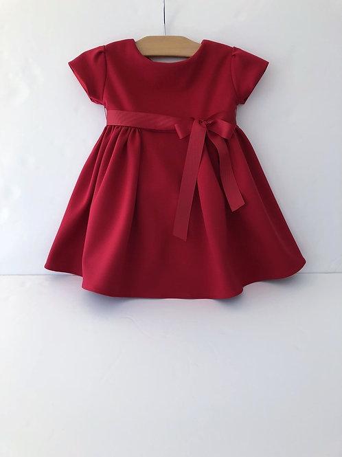 Red Ponte Baby Dress