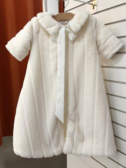 Faux Fur Christening Coat