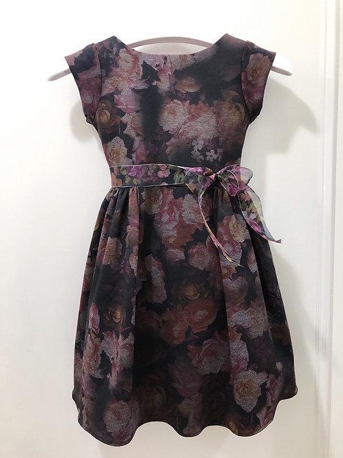 Rose print ponte dress