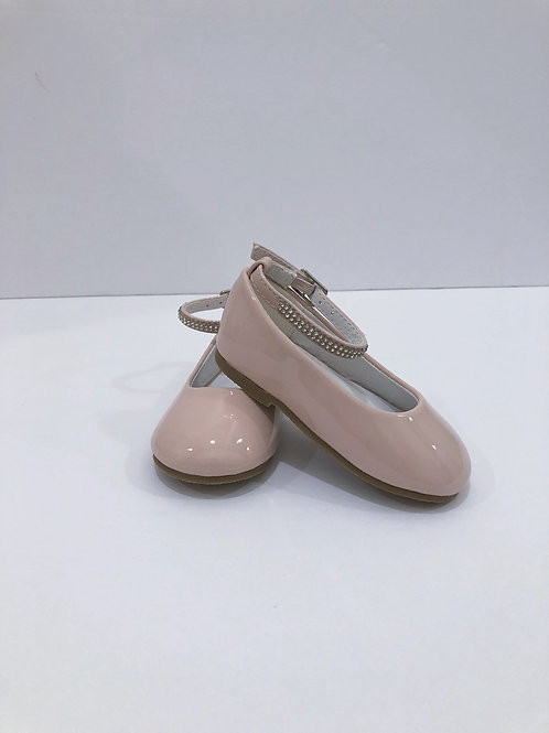 Blush Patent Baby Shoes