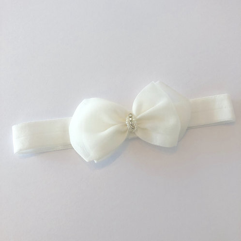 Baby headband with seed pearls