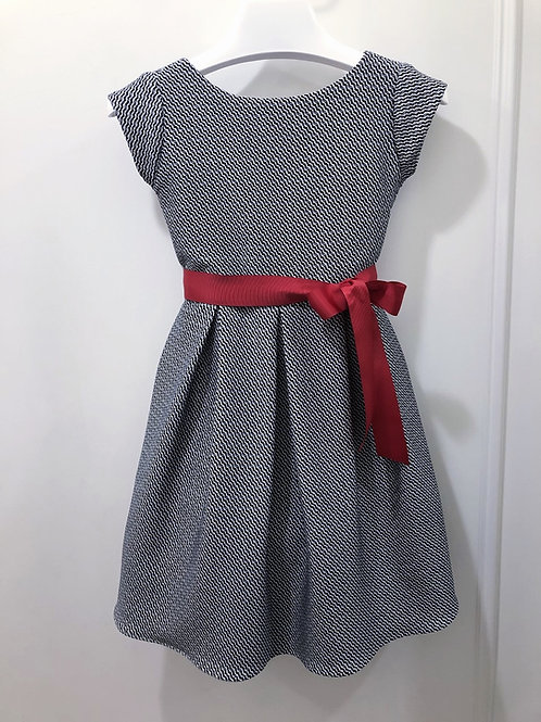 Mini herringbone print dress