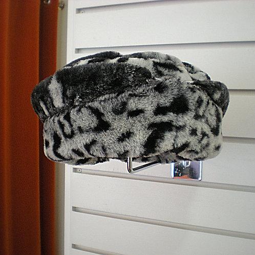 Leopard Print Faux Fur Hat