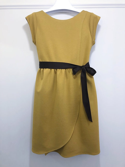 Salted Caramel ponte dress with wrap skirt