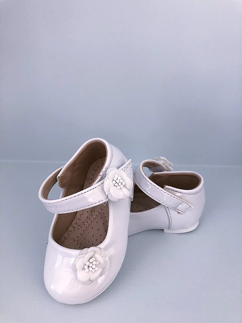White Patent Baby Shoes