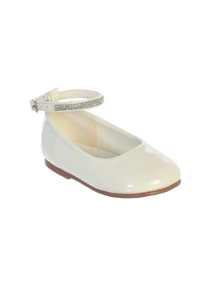 Ivory Patent Baby Shoes