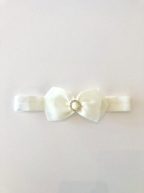 Baby headband with rhinestone feature