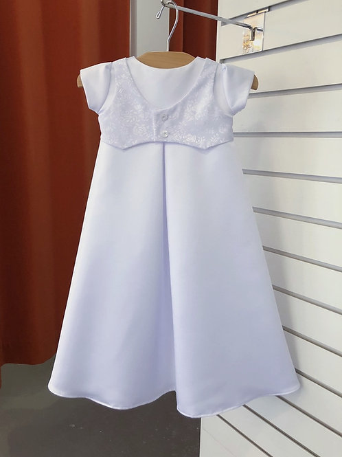 A-line baptism gown for boys