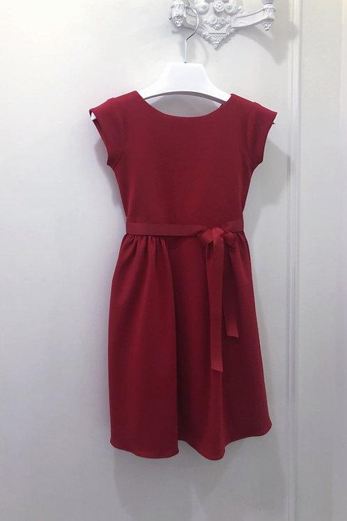 Girls Red Ponte Dress