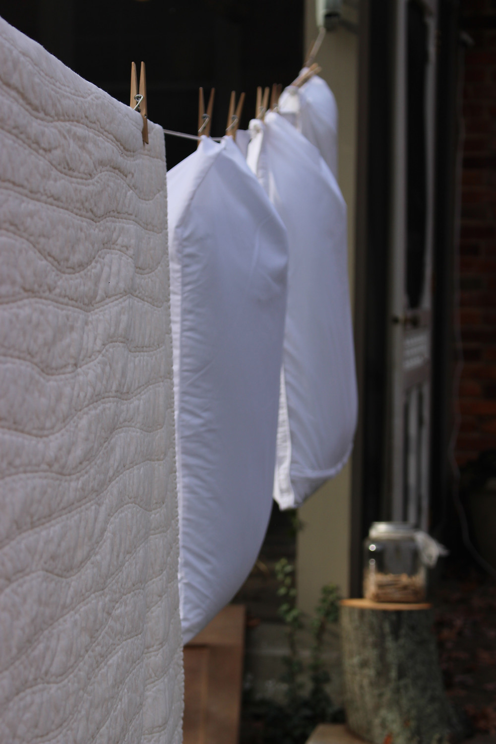 Airing Bedding on a Line