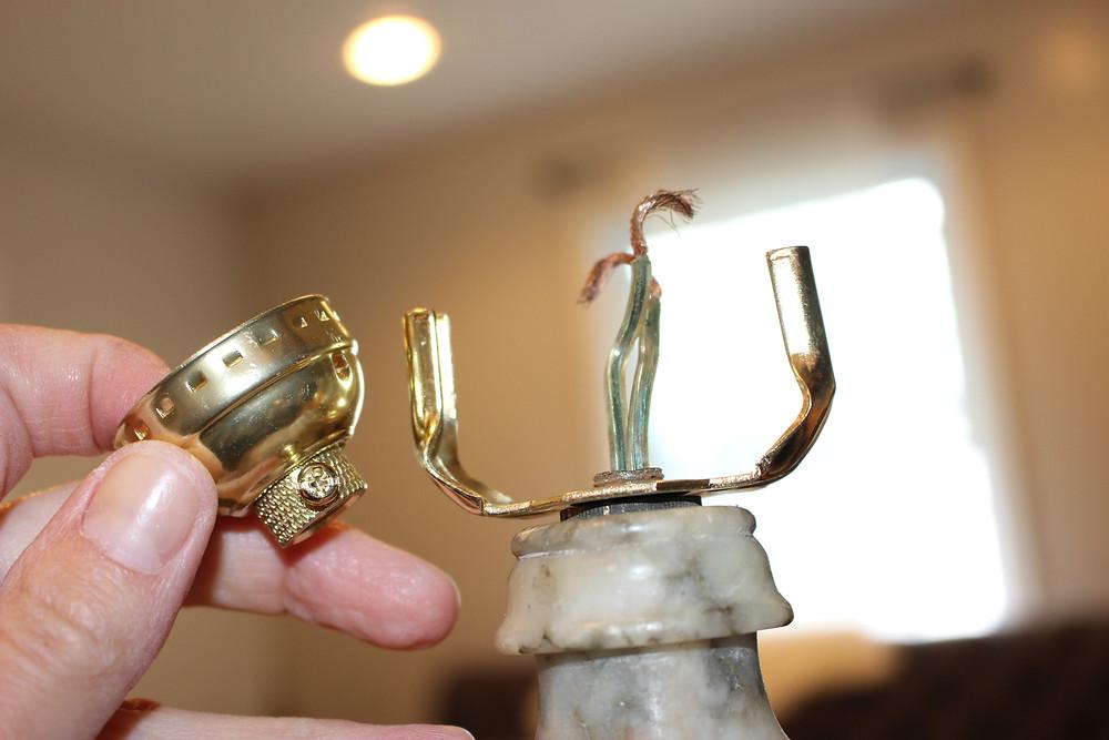 Rewire a Lamp - Lamp Harp