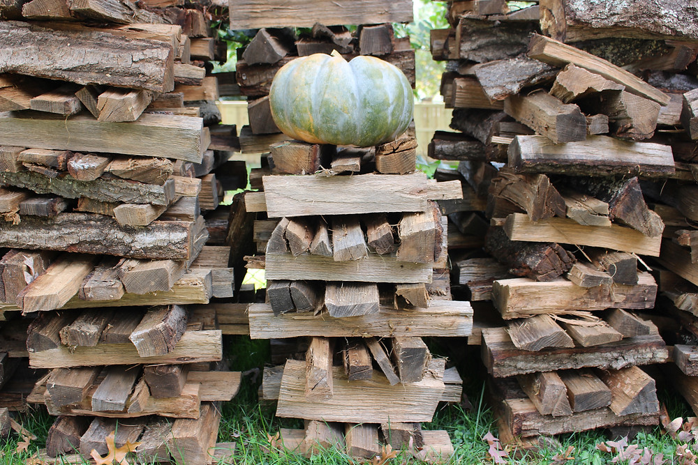 Woodstack and Pumpkin